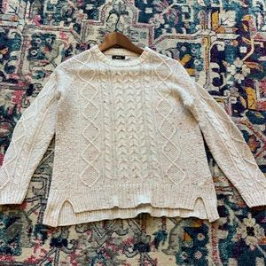 Urban Outfitters Cream cable knit sweater